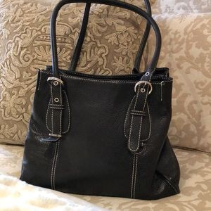 Tignanello pebbled leather handbag